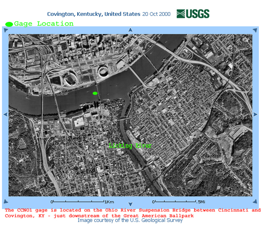 National Weather Service Advanced Hydrologic Prediction Service - Ohio river on us map