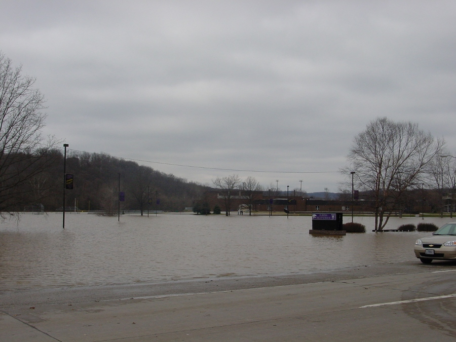 (8) Eureka High School Parking Lot And Athletic Fields On March 22, 2008 At  A Stage Near 39.3 Feet.