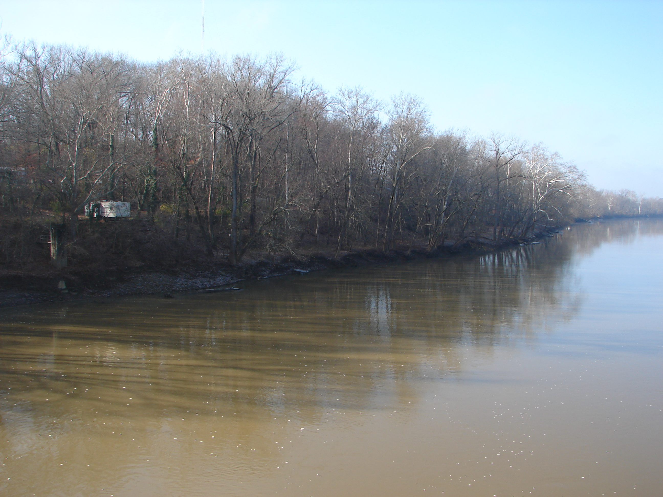 Indiana pike county otwell -  6 Downstream Left Bank View Of White River From Sr 61 Bridge On Dec 4 2015 Level Is 7 3 Feet