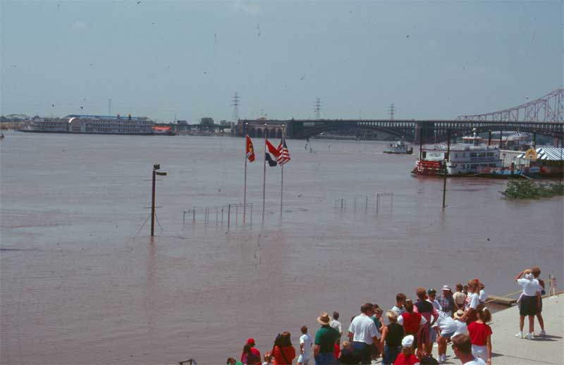 (3) Flood of 1993: St. Louis Riverfront