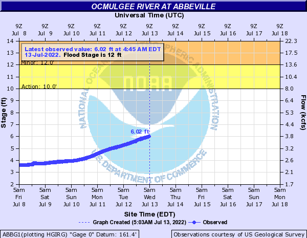 Ocmulgee River at Abbeville