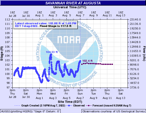 Savannah River at Augusta