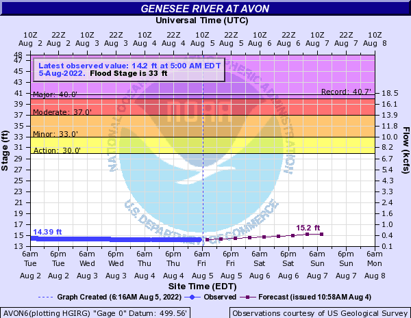 Genesee River at Avon
