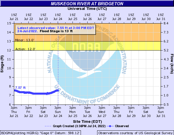 Muskegon River at Bridgeton