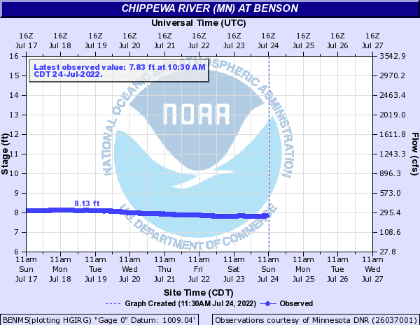 Chippewa River MN at Benson
