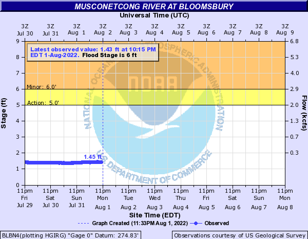 Musconetcong River at Bloomsbury