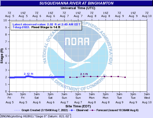 Water Level - Binghamton