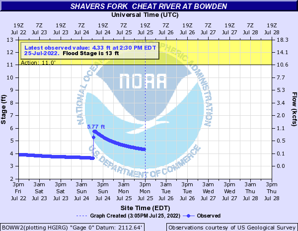 Shavers Fork  Cheat River at Bowden