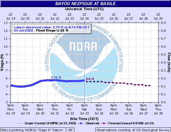 Bayou Nezpique at Basile