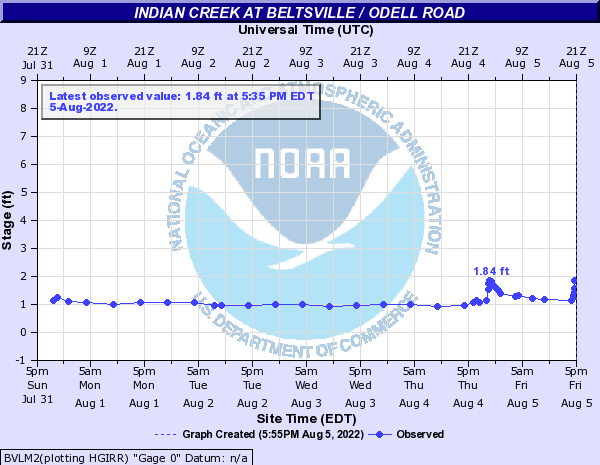 Indian Creek at Beltsville / Odell Road
