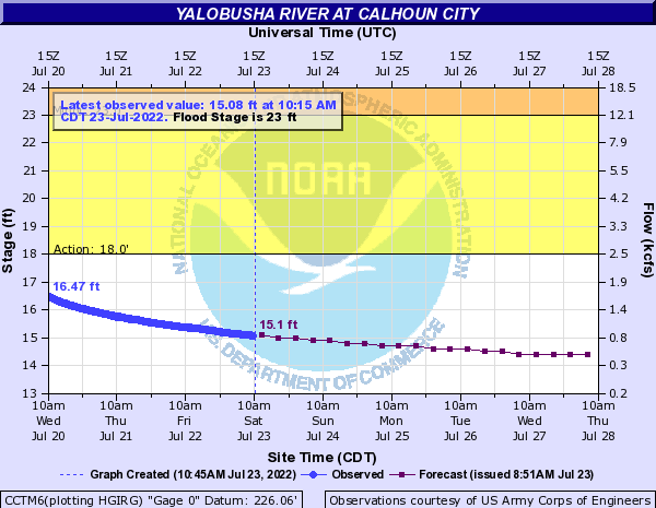 Yalobusha River at Calhoun City