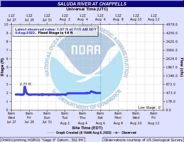Saluda River at Chappells