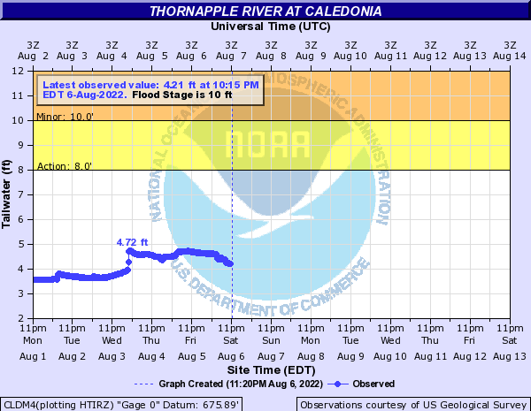 Thornapple River at Caledonia