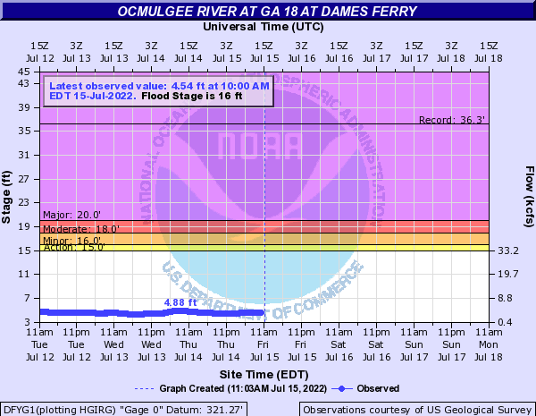 Ocmulgee River at Dames Ferry