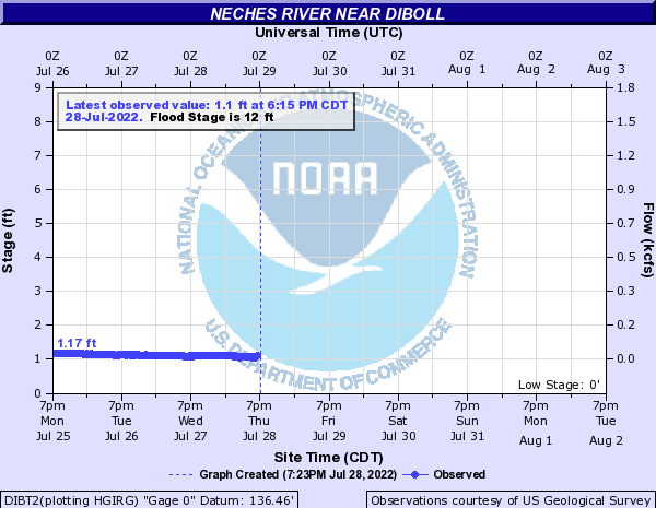 Neches River near Diboll