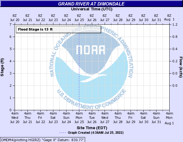 Grand River at Dimondale