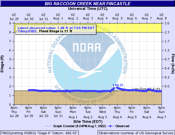 Big Raccoon Creek near Fincastle