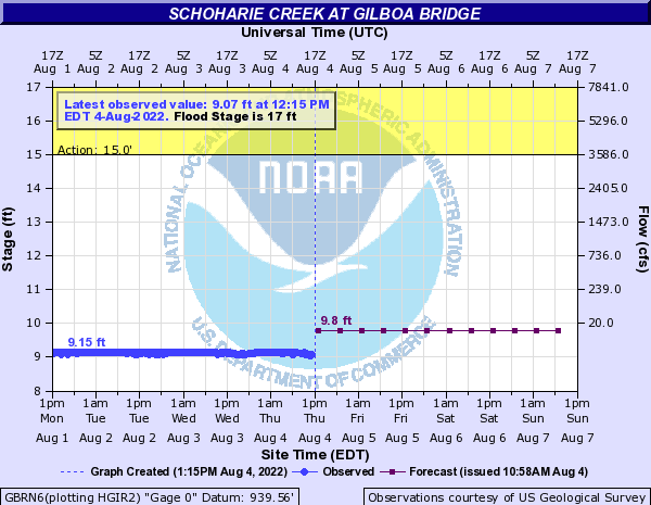 Schoharie Creek at Gilboa Bridge