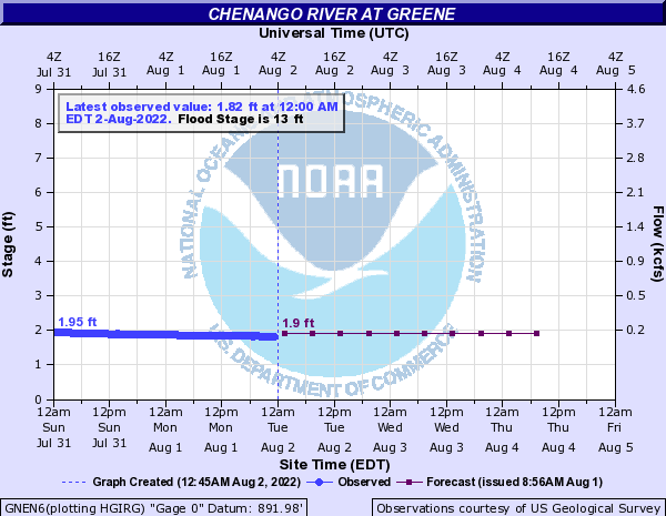 Chenango River at Greene