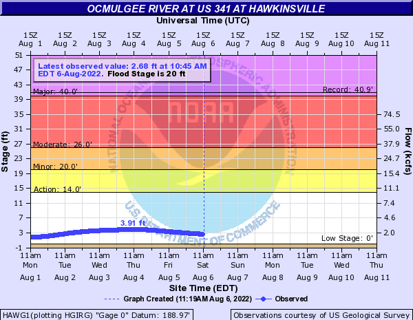 Ocmulgee River at Hawkinsville