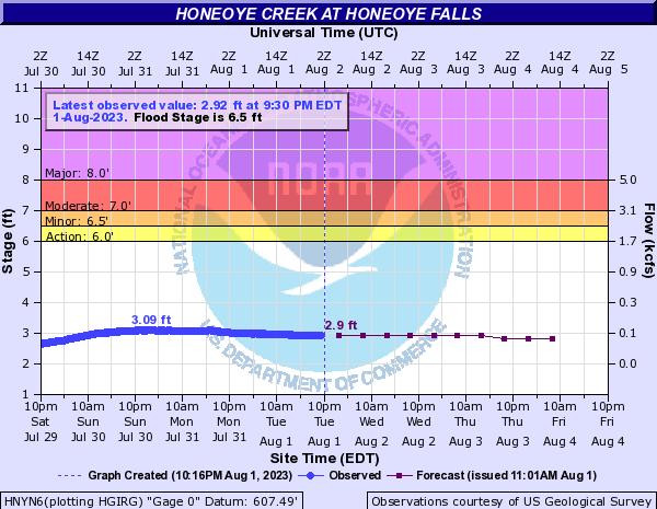 Forecast Hydrograph for HNYN6