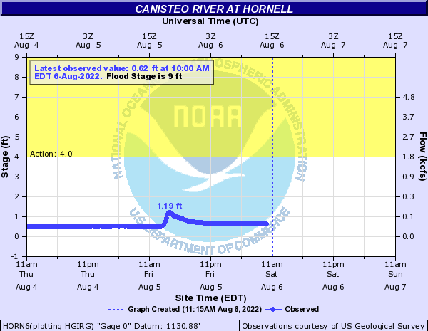 Canisteo River at Hornell