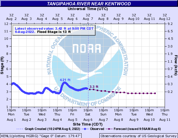 Tangipahoa River near Kentwood