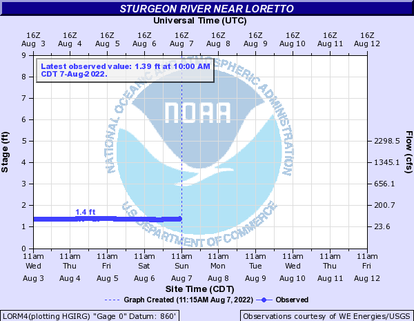 Sturgeon River - Dickinson Co at Loretto