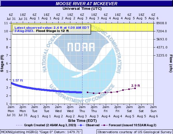 Forecast Hydrograph for MCKN6