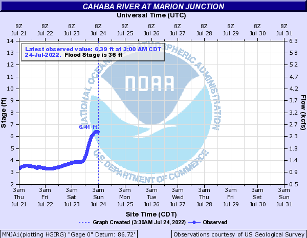 Cahaba River at Marion Junction