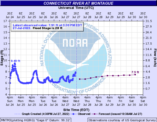 Forecast Hydrograph for MNTM3