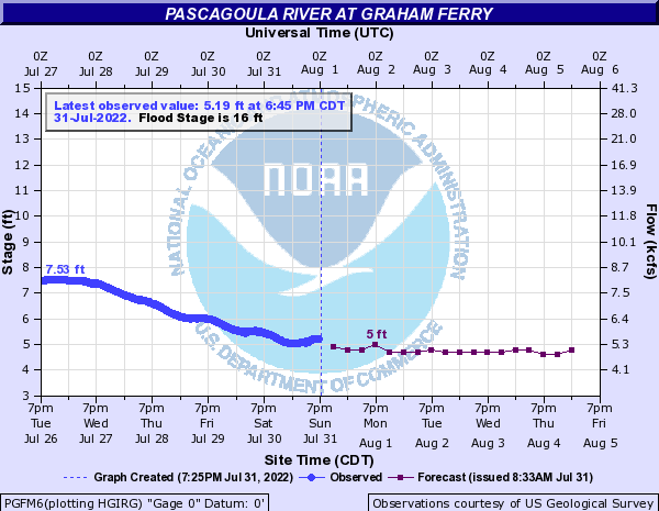 Pascagoula River at Graham Ferry