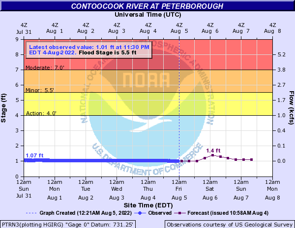 Forecast Hydrograph for PTRN3
