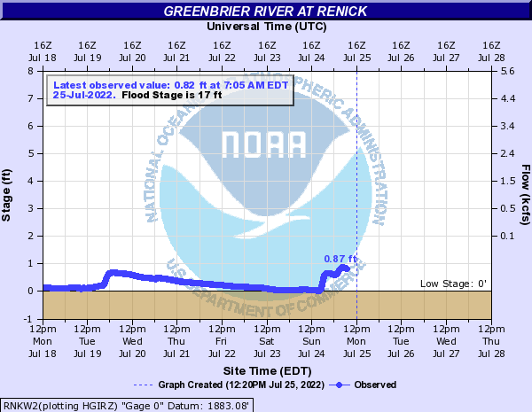 Greenbrier River at Renick