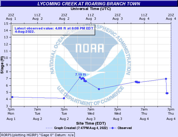 Lycoming Creek at Roaring Branch Town