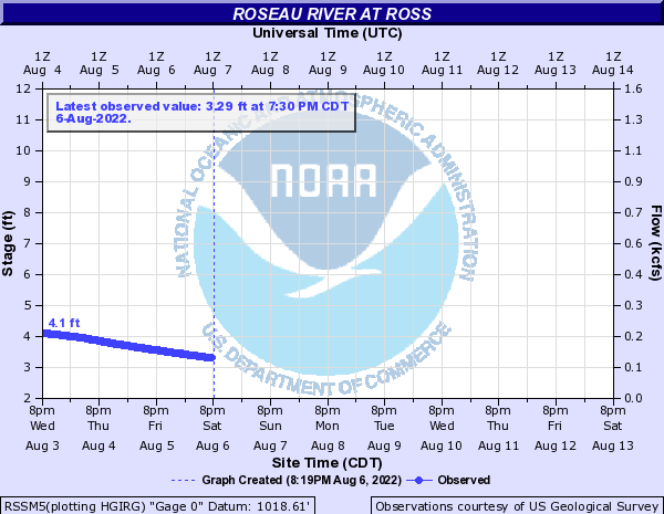 Roseau River at Ross