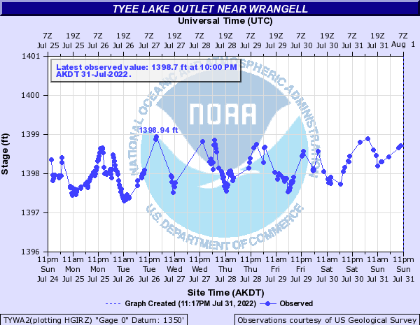 Tyee Lake Outlet near Wrangell