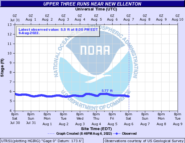 Upper Three Runs near New Ellenton