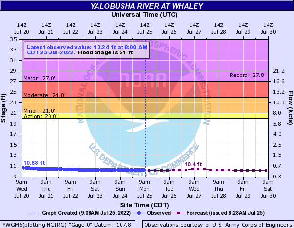 Yalobusha River at Whaley